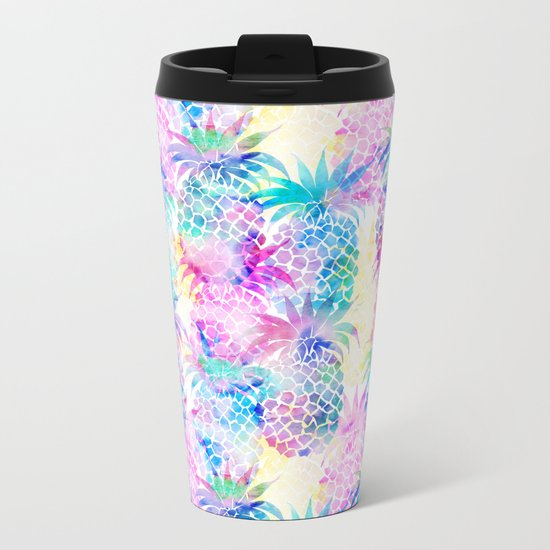 Pineapple Dream Metal Travel Mug