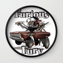 Furious Fury Wall Clock