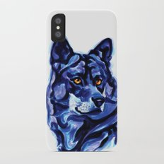 Blue Wolf iPhone X Slim Case