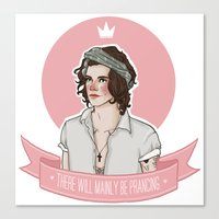 harry styles Canvas Prints featuring Harry Styles by vulcains