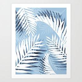 Tropical bliss - chambray blue Art Print