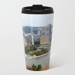 Downtown Pittsburgh in the Fall 23 Travel Mug