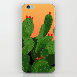 Prickly Pear Desert Sunset iPhone Skin