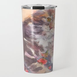 Kitten's Bed of Roses Travel Mug