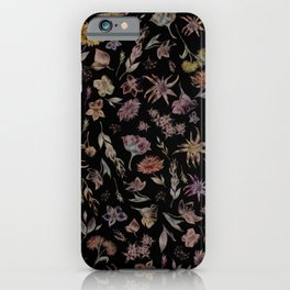 Botanical Study- Dark Colorway iPhone Case