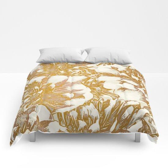 Proud Dahlias Comforters