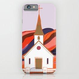 Reyniskirkja Church in Vik Southern Iceland iPhone Case