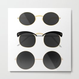 Sunglasses | Summer vibes | illustration art |  Metal Print