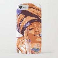 erykah badu iPhone & iPod Cases featuring Badu by DaeSyne Artworks