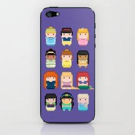 Princesses pixel art iPhone Skin