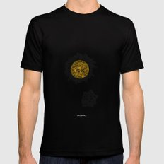 - cosmos_01 - LARGE Black Mens Fitted Tee