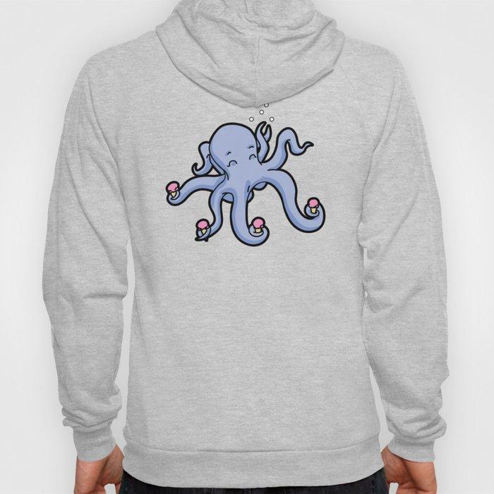 happy octopus ice cream time Hoody