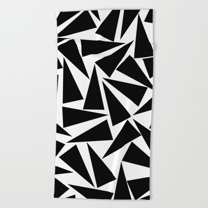 black triangle pattern Beach Towel