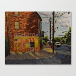 Cornershop on Pape Canvas Print
