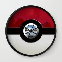 Red Chrome Monster ball Wall Clock