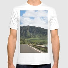 Mountain Road Mens Fitted Tee MEDIUM White