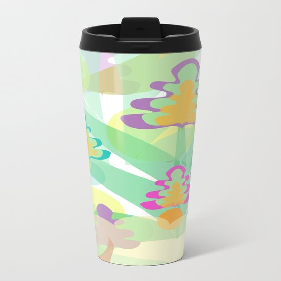 Mystery Flora Metal Travel Mug