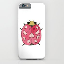 Red insect | Entomology watercolor art iPhone Case