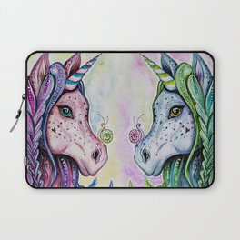 Pink Unicorn - Watercolor/inks by: Dominique Lacroix Laptop Sleeve