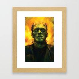 Frankensteins Monster Boris Karloff Halloween Framed Art Print
