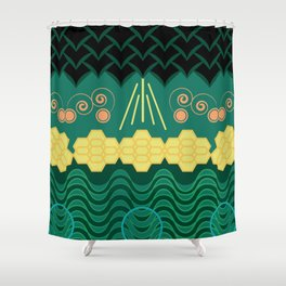 Rainforest HARMONY pattern Shower Curtain