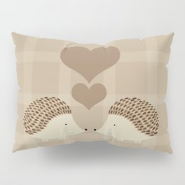 Hearts and Hedgehogs Pillow Sham