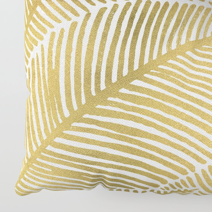Gold Floor Pillows : Tropical Gold Floor Pillow by catcoq Society6