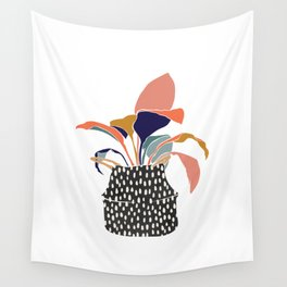Seagrass Basket Planter Wall Tapestry