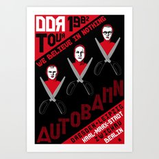 Autobahn--East German Tour 1982 Art Print