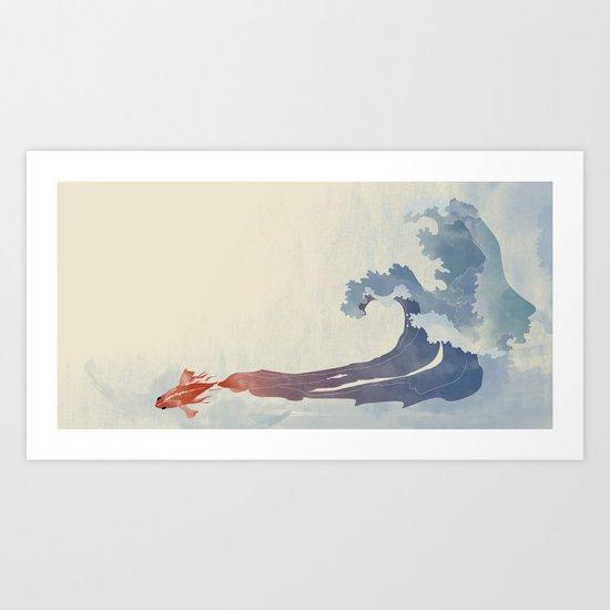Fish effect Art Print