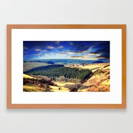 Exmoor views Framed Art Print