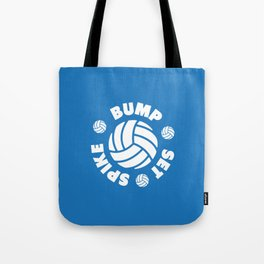 Bump Set Spike Volleyball Tote Bag