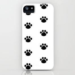 Puppy Dog Paw Prints iPhone Case