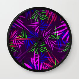 Palm leaves. Wall Clock