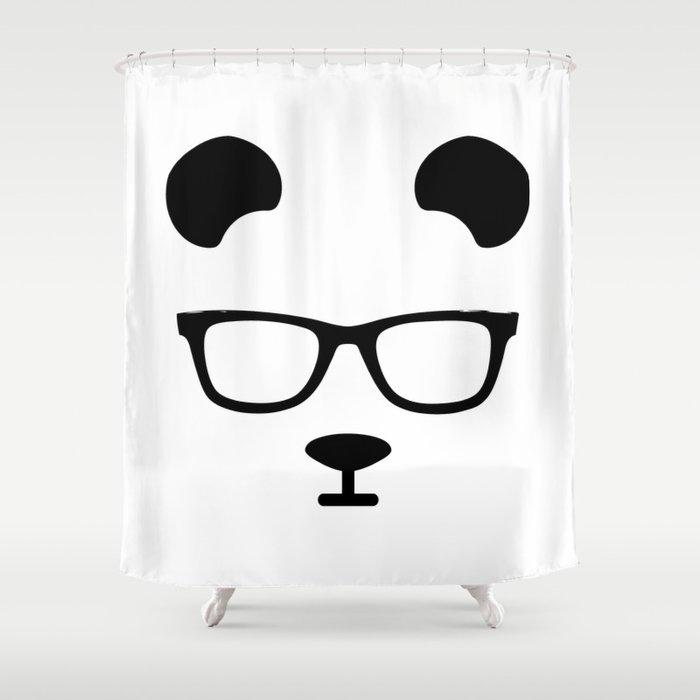 Nerd Panda Shower Curtain By Vendettadesign