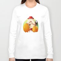 studio ghibli Long Sleeve T-shirts featuring Studio Ghibli - Radish Spirit by Laurence Andrew Page Illustrator