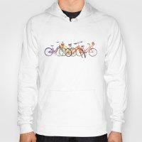 bikes Hoodies featuring bikes by takmaj