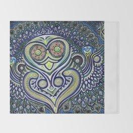 Inner Light / Psychedelic Owl Throw Blanket