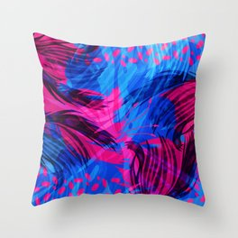 Going for an Abstract Swim Throw Pillow