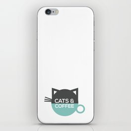 Cats and coffee iPhone Skin