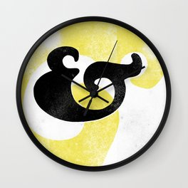 Goudy Stout Ampersand Wall Clock