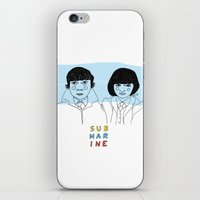 submarine iPhone & iPod Skins featuring Submarine by ☿ cactei ☿