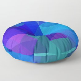 Sapphire Low Poly Floor Pillow