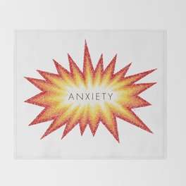 Anxiety Attack Throw Blanket