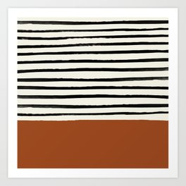 Burnt Orange x Stripes Art Print