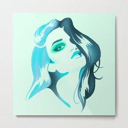 Aqua Green Bombshell Metal Print