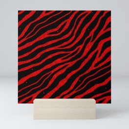 Ripped SpaceTime Stripes - Red Mini Art Print