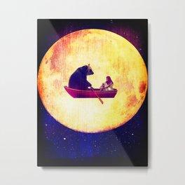 bear in the moon Metal Print