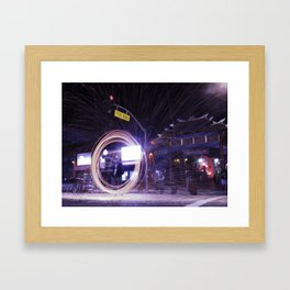Fire In Chinatown Framed Art Print