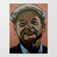 bill murray Canvas Prints featuring Bill Murray by Jonny Moochie